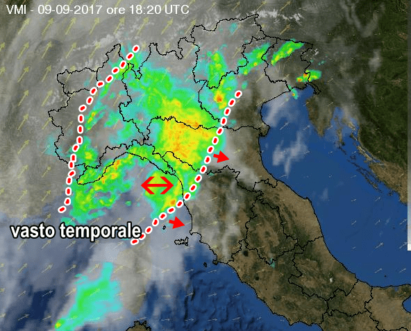 Campania, prorogata l'allerta meteo: allarme