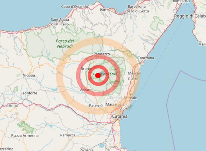 Terremoto Sicilia, scossa sull'Etna