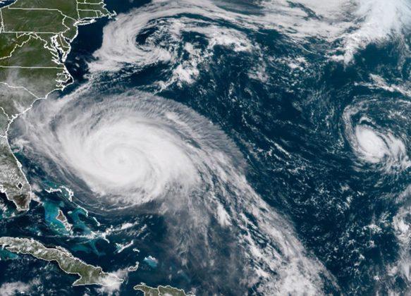Uragano Maria a largo degli USA