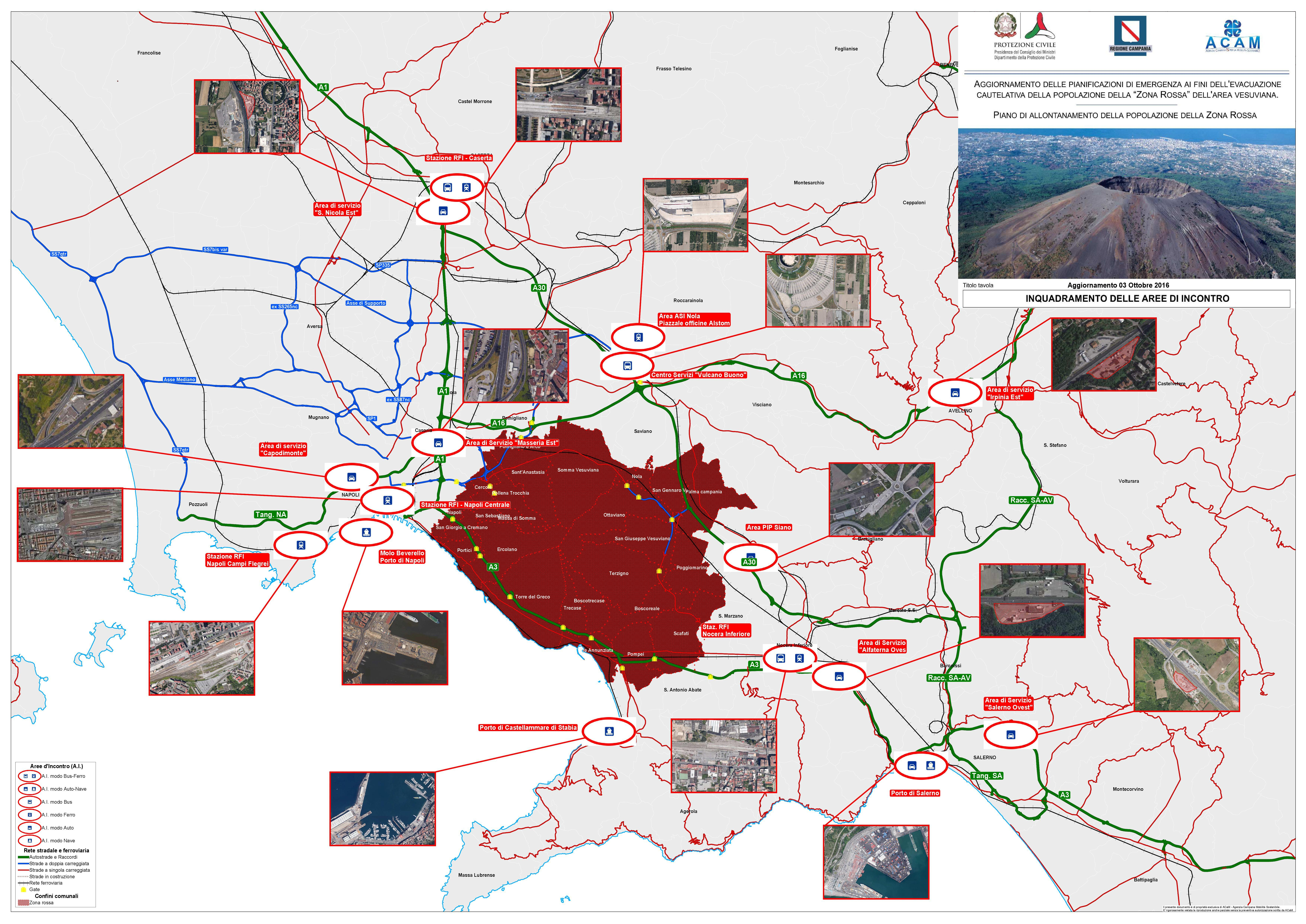 Vesuvio: presentato il piano di evacuazione in caso di eruzione