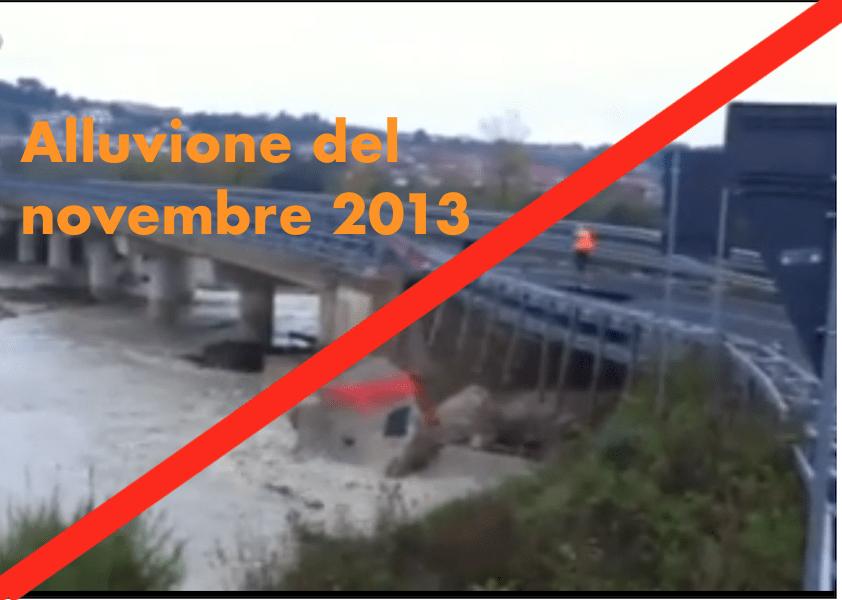 """Rettifica: """"crolla tratto della Teramo mare"""" notizia del Novembre 2013"""