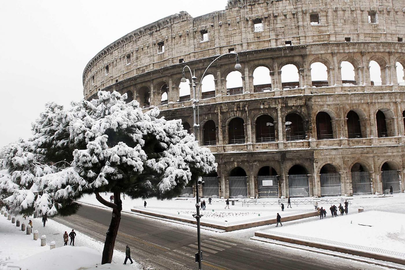 Roma innevata (fonte: inmeteo.net)
