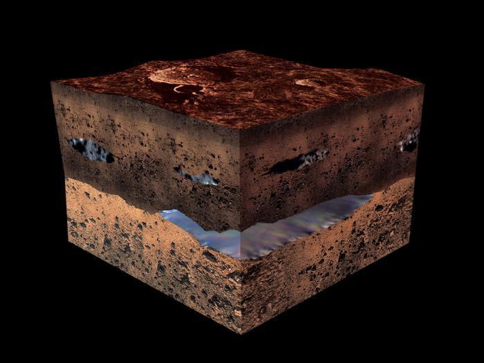 Scienziati italiani scoprono acqua liquida su Marte foto video