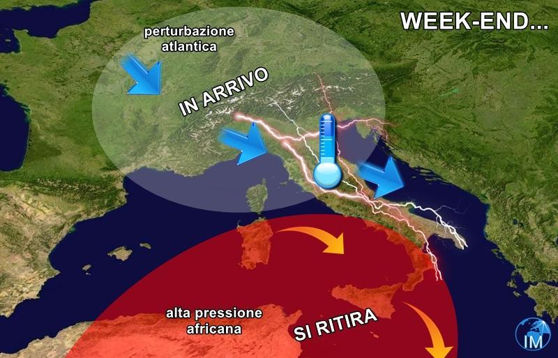 Previsioni Meteo : altro week-end da dimenticare. Altri temporali in arrivo da nord a sud