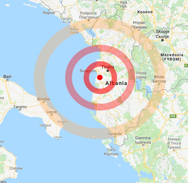 Albania : nuova intensa scossa di terremoto, avvertita anche in Puglia