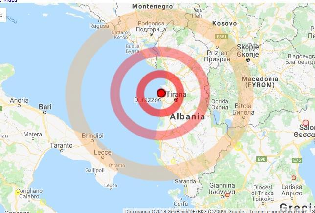 Violento terremoto in Albania, scossa avvertita anche in Italia
