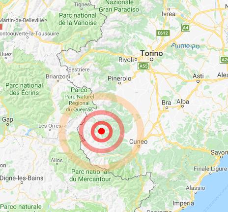 Piemonte : scossa di terremoto moderata avvertita a Cuneo – dati INGV
