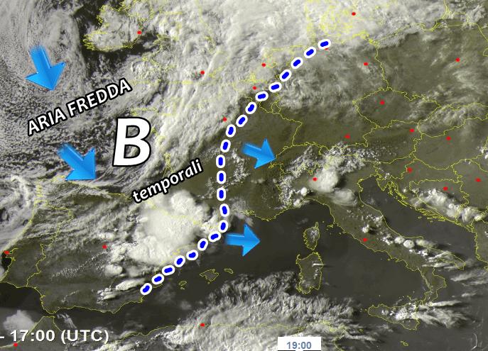 maltempo diretta temporali europa italia