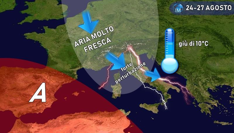 previsioni meteo maltempo fresco pioggia autunno estate