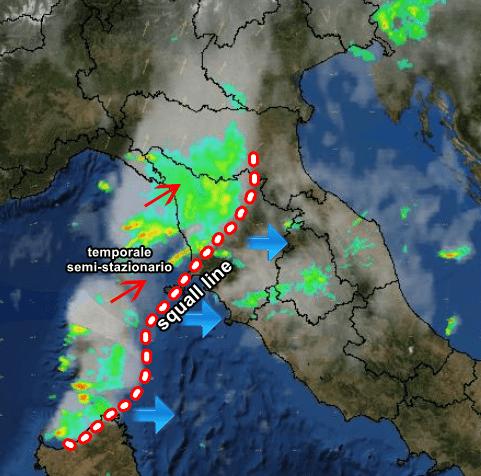 temporale toscana nubifragi pioggia radar