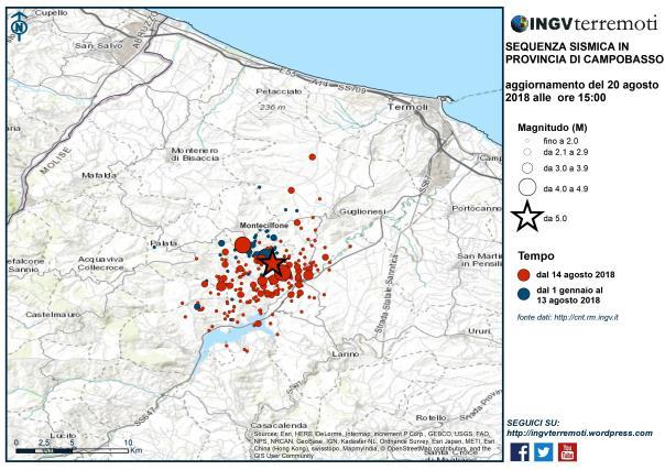 Sisma di magnitudo 3.9 in Emilia R., nuova scossa anche in Molise