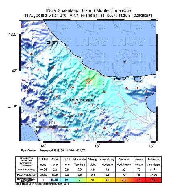 terremoto molise oggi napoli pescara bari roma