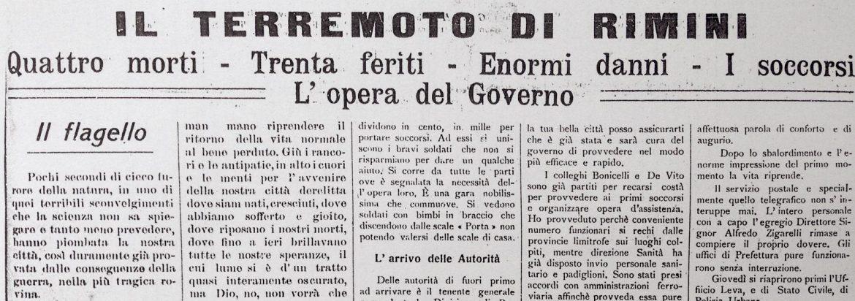 16 agosto 1916 : il distruttivo terremoto di Rimini che sconvolse la Romagna