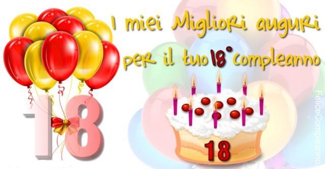 Auguri Di Buon Compleanno Per I 18 Anni Immagini E Frasi Per L