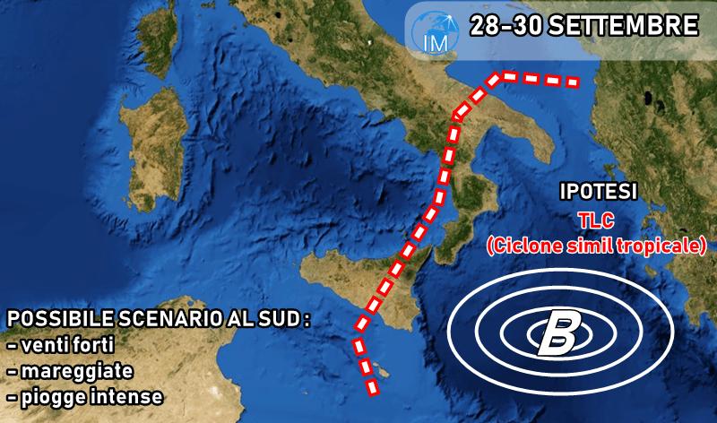 E' in arrivo un ciclone di portata storica nel Mediterraneo
