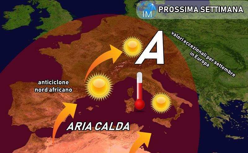 previsioni meteo caldo africano settembre