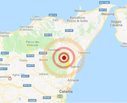 Cartina Geografica Sicilia Taormina.Moderata Scossa Di Terremoto In Sicilia Nell Area Dell Etna