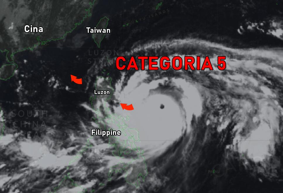 Super TIFONE MANGKHUT: Filippine nel mirino della potente tempesta categoria 5
