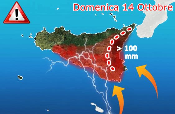 Allerta meteo Sicilia: tregua temporanea, fra stasera e domani intensa fase di maltempo con nubifragi