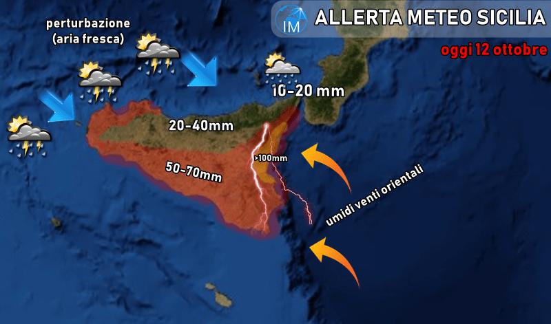 Cartina Meteo Sicilia.Sicilia Allerta Meteo Arancione Attenzione Ai Nubifragi In Arrivo