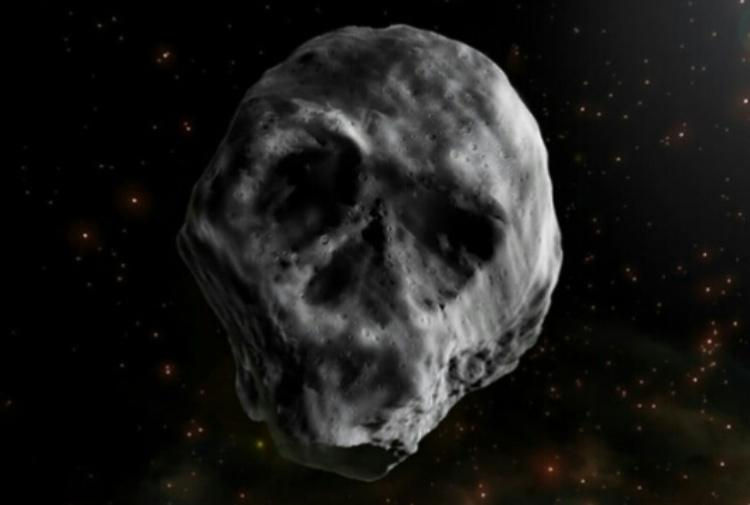 asteroide morte teschio