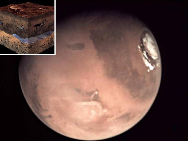 Marte : c'è ossigeno nell'acqua, può ospitare la vita!