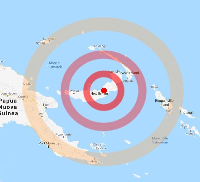 Terremoto M 7 in Papua Nuova Guinea, replica di M 6.5