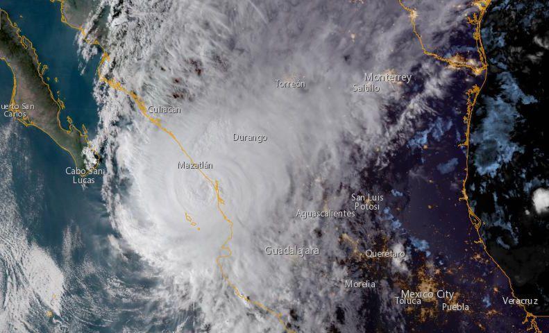 Uragano Willa, evacuazioni in Messico
