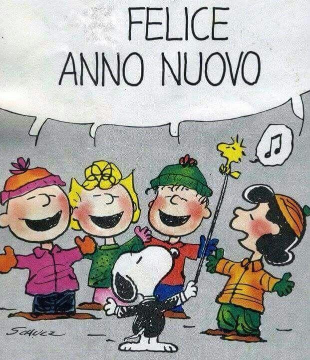 Buon capodanno 2019 e felice anno nuovo immagini gif per for Immagini snoopy gratis