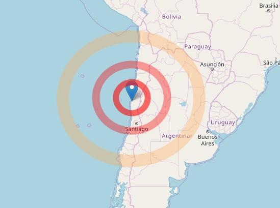 Terremoto 6.6 in mare davanti al Cile