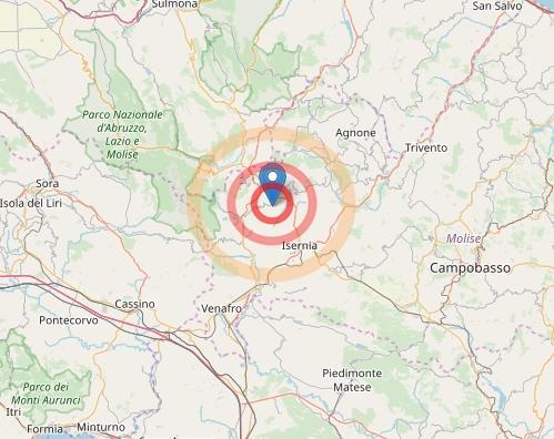 Beneventano, scossa magnitudo 2,7: terremoto avvertito anche a Caserta