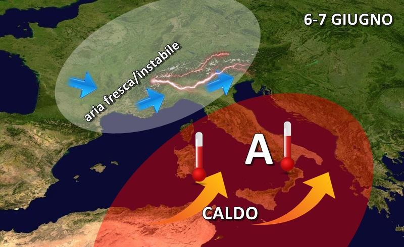Previsioni meteo: da giovedì possibili temporali di calore al Nord