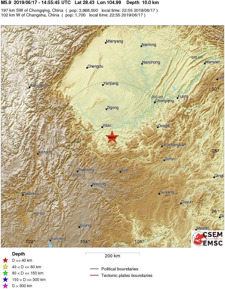 Terremoto in Cina, scossa di magnitudo 6: 12 morti e 125 feriti