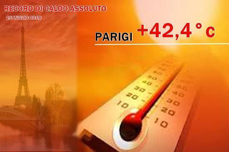 Caldo record a Parigi: raggiunti i 42,6 gradi