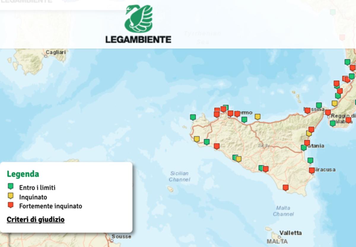 Legambiente : dove NON fare il bagno in Sicilia. Tanti i ...