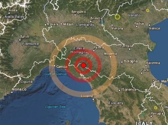 Terremoto oggi parma 13 agosto 2019 | Magnitudo | Epicentro