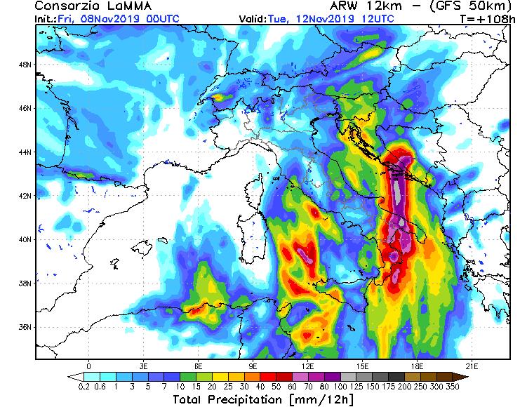 Ciclone mediterraneo in arrivo: venti sino a 120kmh
