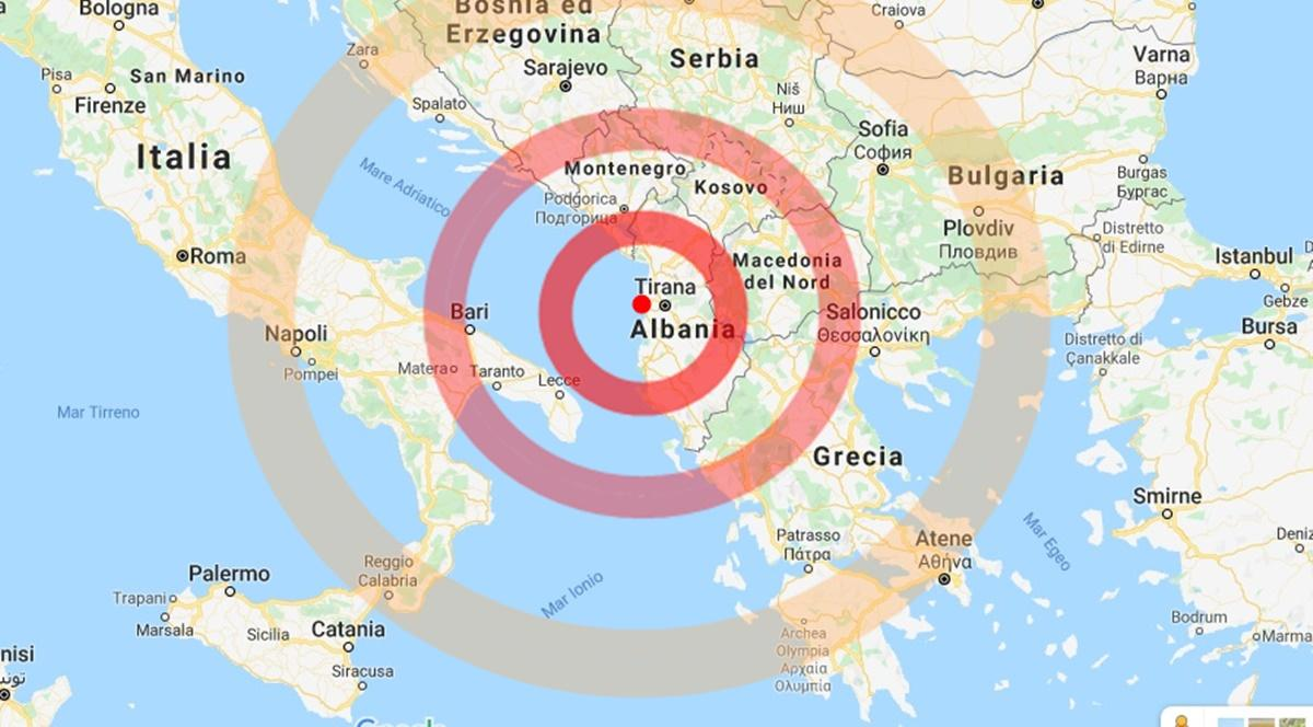 Terremoto in Albania, il video del disastro
