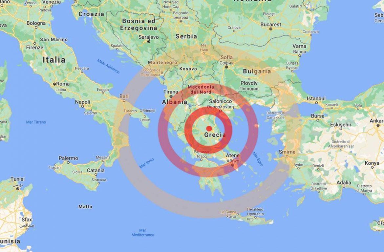 Ultim'ora: violenta scossa di terremoto in Grecia, paura anche al Sud Italia