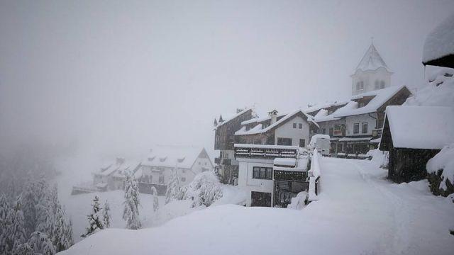Neve sulle Alpi, Monte Lussari